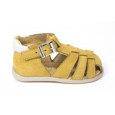 Babybotte sandales garçon GIMMY en cuir beige à boucle