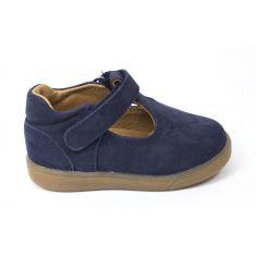 Babybotte sandales bleu marine en cuir SKOTY
