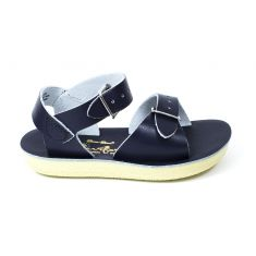 Salt-Water Sandales fille Waterproof Cuir Surfer Navy