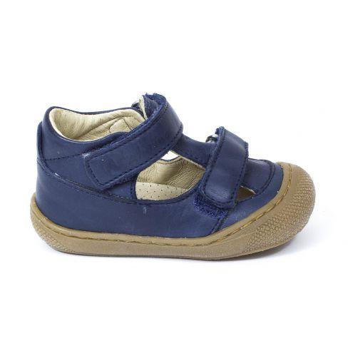 nouveau sommet coupe classique promotion Naturino COCOON Chaussures bébé ouvertes à double scratch premiers pas  souple bleu marine garçon en cuir