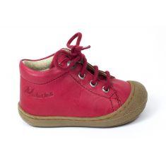 Naturino COCOON Chaussures bébé premiers pas souple rouge garçon en cuir