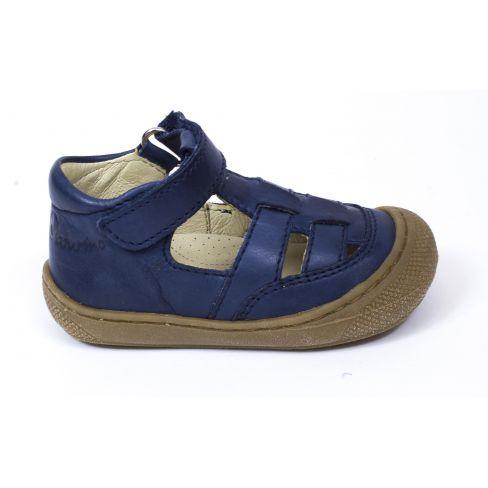 Garçon En Cuir Ouvertes Marine Cocoon Pas Bleu Chaussures Premiers Naturino Bébé Souple ARL54j3q