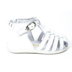 Sandales bébé fille cuir Babybotte Guppy blanc