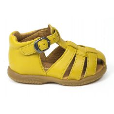 Sandales garçon Babybotte bébé 1er pas à boucle jaune TAGADA