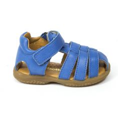 Sandales garçon Babybotte à scratch bleu TAFARI
