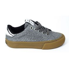 Sneakers à lacet TRIBU MODA LUREX argent Victoria 1065115