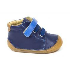 Chaussures bébé garçon - Babybotte Bottines bébé garçon à velcro 4 pattes ZOUMY bleu