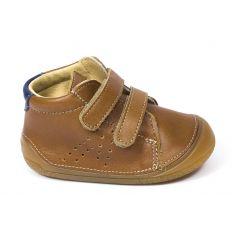 Babybotte Chaussures prewalker - Boots bébé garçon à scratch 4 pattes ZOUPY miel