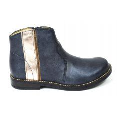 Babybotte Boots fille cuir KODETTE bleu petrole