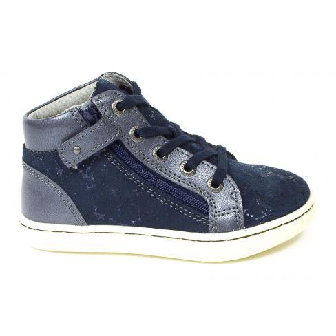 Kickers Sneakers fille à fermeture LYLUBY bleu marine