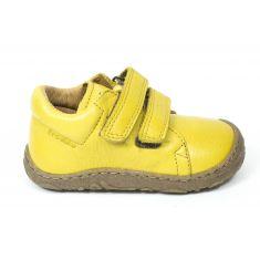 Froddo Baskets basses cuir jaune à scratchs garçon - Chaussant fin garçon