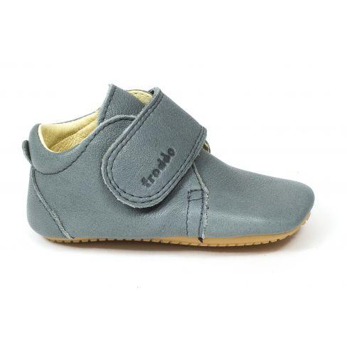 Froddo Prewalkers - Chaussures bébé garçon pré-marche en cuir souple gris