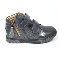 Babybotte Low boot fille à scratchs KEOPI gris