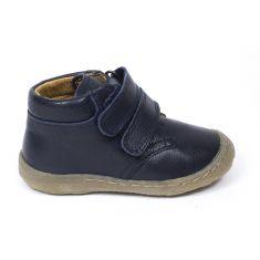 Boots bleu montantes cuir à scratchs garçon Froddo - Chaussant fin 1er pas bébé garçon