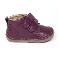 Froddo Boots montantes rouge cuir à scratchs garçon - Chaussant large 1er pas bébé garçon