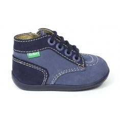 Kickers Bottillon BONZIP à fermeture bleu denim