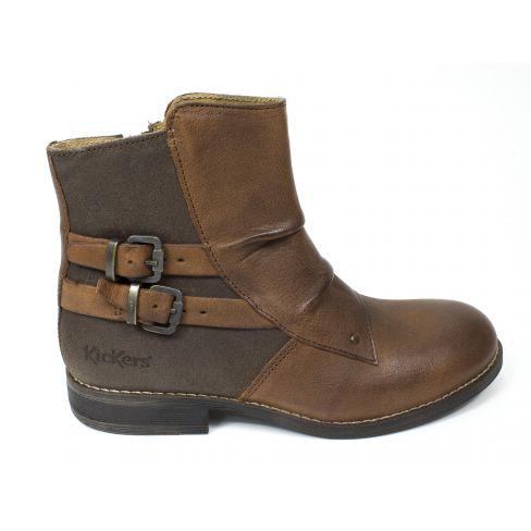 Kickers Boots cuir SMACHY marron