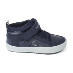 Geox Sneakers J ALONISSO garçon à scratch bleu marine / gris