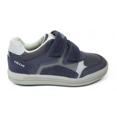 GEOX Sneakers J ARZACH garçon à scratch  bleu marine / gris