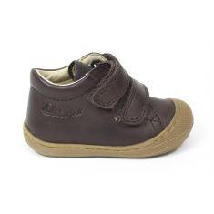 Naturino COCOON Chaussures bébé premiers pas souple garçon marron à scratch en cuir