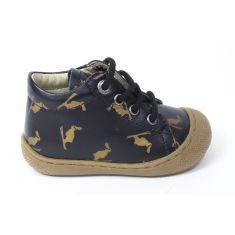 Naturino COCOON BUNNY Chaussures bébé premiers pas souple fille en cuir noir