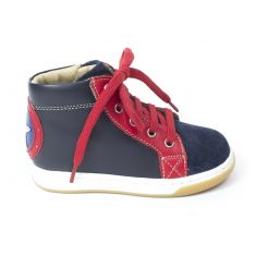 Shoo Pom dude force  Boots garçon kesaco/velours navy red