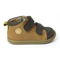 SHOOPOM Boots garçon  BOUBA NEW SCRATCH nubuck KEZACO terra camelL