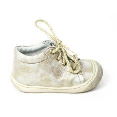 Naturino COCOON Chaussures bébé premiers pas souple fille en cuir or platine
