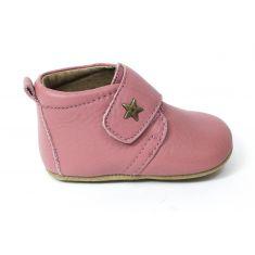Bisgaard Baby chausson en cuir bébé fille star Rose à scratch