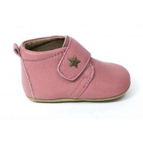 fresh styles shades of low cost Bisgaard Baby chausson en cuir bébé fille star Rose à scratch