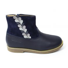 POM D'API Boots Trip Rolls Ferns bleu marine