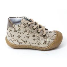 Bellamy Boots souple beige à lacet bébé fille ZALA