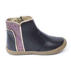 Shoo Pom  boots      Alias back pipe     nappa glitter noir et violet
