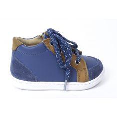 Boots garçon Shoo Pom Bouba zip box  jasper jeans/camel
