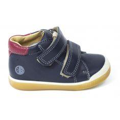 Babybotte Boots en cuir velcro pour garçon ARMAN bleu marine