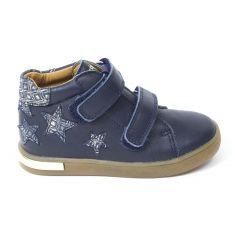 Babybotte Boots fille à scratchs KISTEL bleu marine