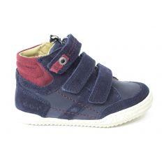 Kickers Sneakers garçon à scratch JAPPA bleu marine