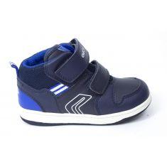 GEOX Sneakers Boots B NEW FLICK garçon bleu marine à scratchs