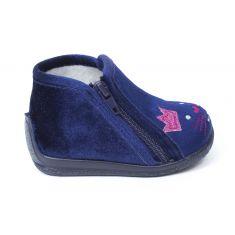 Bellamy chaussons fille bleu à fermeture KEL