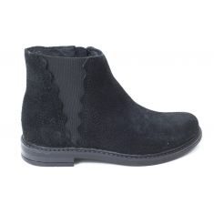 Bellamy Bottines fille noires à fermeture SUISSE