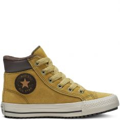 Converse Chuck Taylor All Star PC Boot High Top cuir camel