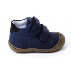Bellamy Boots bébé garçon 1er pas souple bleu à scratch ZOO