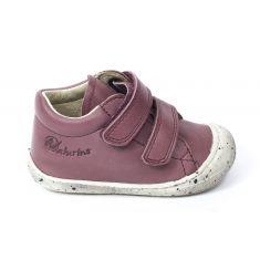 Naturino COCOON Chaussures bébé premiers pas souple fille bordeaux en cuir à scratchs