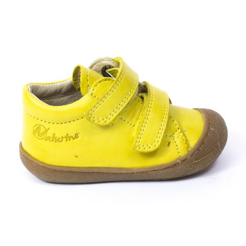 Naturino COCOON jaune Chaussures bébé à scratch 1er pas souple garçon en cuir