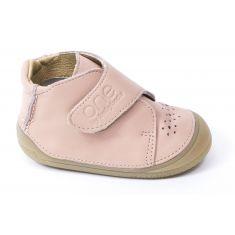 Chaussures bébé fille - Babybotte Bottines bébé fille à velcro 4 pattes ZENITUDE rose