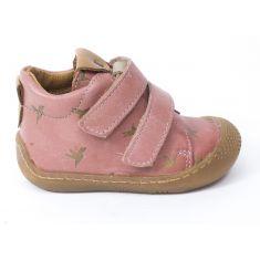 Babybotte Boots 1 er pas à scratchs fille ARLO rose