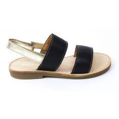 Babybotte Sandales tendance en cuir noir pour fille YOKO
