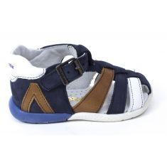 Sandales garçon Babybotte bébé 1er pas à boucle bleu marine GEMEAUX marine