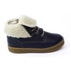 Babybotte Chaussures enfant garçon doublé fourrure KARASJOKFL bleu marine