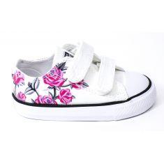 CONVERSE sneakers bas CTAS OX 2V blanc à fleurs